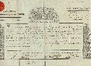 CERTIFICAT D'OFFICER-CHIRURGIEN MAJOR-1794- LOIRE-